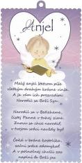 Obrázok na dreve: Anjel, s modlitbou (2017-12)