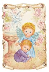 Obrázok na dreve: Anjel s chlapcom (ODZ050)