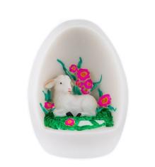 Dekorácia: Vajíčko s baránkom - ružová