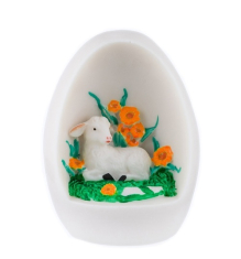 Dekorácia: Vajíčko s baránkom - oranžová