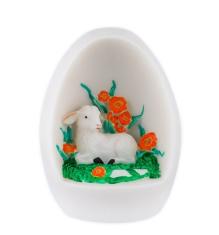 Dekorácia: Vajíčko s baránkom - červená