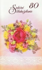 Pozdrav: Srdečné blahoželanie k 80-tke - s textom (STIVA_B 10-877)