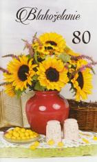 Pozdrav: Blahoželanie k 80-tke - s textom (STIVA_B 10-836)