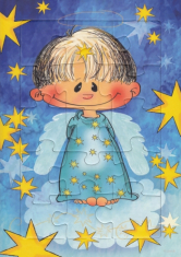Puzzle: Anjel Zlatúšik - modré