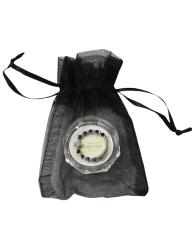 Prsteň: ruženec, vo vrecku - čierny (RA340-R) - Swarovski