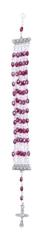 Náramok: ruženec - fialový (BZB063)