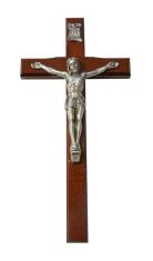 Kríž: drevený, frézovaný - bordový (KVZ009)