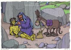 Puzzle: Milosrdný Samaritán - 35 dielikov