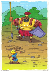 Puzzle: Dávid a Goliáš - 35 dielikov