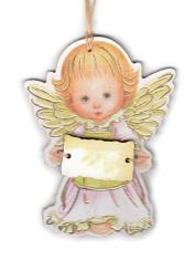 Anjel drevený s ceduľkou žltou (ADZ012)