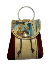 Kľúčenka: kožené vrecko Lurdy - hnedá (12/115)
