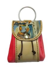 Kľúčenka: kožené vrecko Lurdy - červená (12/115)
