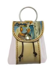 Kľúčenka: kožené vrecko Lurdy - biela (12/115)