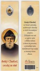 Záložka s medailónom: Svätý Charbel, oroduj za nás! (Z003)
