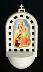 Svätenička: Panna Mária Škapuliarska - plastová (SVZ006)
