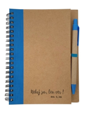 Zápisník s perom: Neboj sa - modrý