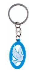 Kľúčenka: Holubica, gumená - modrá (KC019A)