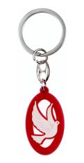 Kľúčenka: Holubica, gumená - červená (KC019A)
