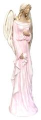 Anjel sadrový - ružový (179)