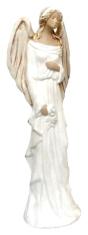 Anjel sadrový - biely (179)