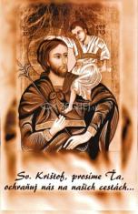 Obrázok: Sv. Krištof (LV18) - kartička do auta