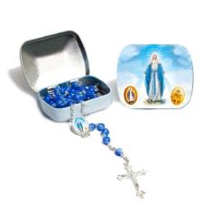 Ruženec: s krabičkou, modrý (1037)