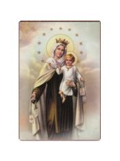 Magnetka: Panna Mária Škapuliarská - drevená (681)
