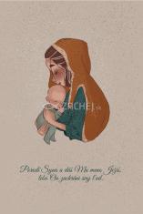 Pohľadnica: Matka Božia s dieťaťom