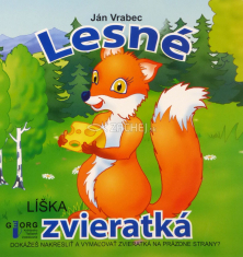 Lesné zvieratká - kniha s obrázkami na vymaľovanie