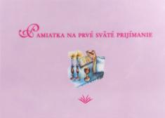Pamiatka na prvé sväté prijímanie (VMV - ružová) - Pamätná kniha pre dievča