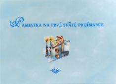 Pamiatka na prvé sväté prijímanie (VMV - modrá) - Pamätná kniha pre chlapca