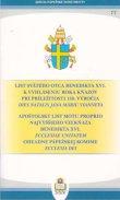 List svätého otca Benedikta XVI. k vyhláseniu Roka kňazov - pri príležitosti 150. výročia