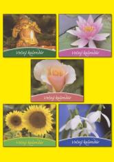 Večný kalendár - špirálový stolový večný kalendár s obrázkom a myšlienkou na každý mesiac