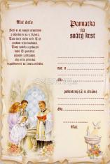 Pamätný list na sviatosť krstu