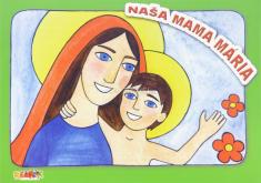 Naša mama Mária - maľovánka s nálepkami