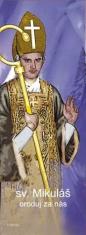sv. Mikuláš (záložka) - Knižná záložka kartónová