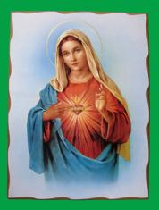 Obraz na dreve: Srdce Panny Márie (40 x 30 cm)
