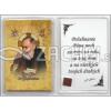 Obrázok v púzdre: sv. páter Pio (634A) - s relikviou a požehnaním - fotografia 4