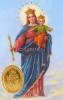 Kartička - Pomocnica kresťanov (rcc) - s modlitbou, plastová