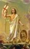 Kartička: Zmŕtvychvstalý Kristus (rcc) - s modlitbou, plastová