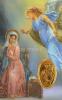 Kartička: Gabriel archanjel (RCC) - s modlitbou, plastová