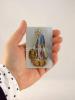 Kartička: Panna Mária Zázračnej medaily (RCC) - s modlitbou, plastová - fotografia 4