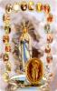 Kartička - Panna Mária a tajomstvá ruženca (RCC) - Modlitba k Lurdskej Panne Márii, plastová