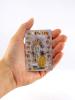 Kartička - Panna Mária a tajomstvá ruženca (RCC) - Modlitba k Lurdskej Panne Márii, plastová - fotografia 4
