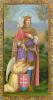 Obrázok: sv. Imrich (ISK 042) - s modlitbou, pozlátený, papierový