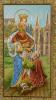 Obrázok: Sv. Alžbeta (ISK 041) - s modlitbou, pozlátený, papierový