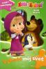 Máša a Medveď: Dlhá cesta - Vyfarbi môj svet - Samolepky, omaľovánka - fotografia 2