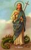 Obrázok: sv. Marta (48/37) - s modlitbou, laminovaný