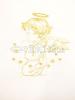 Krstová košieľka: zlatá výšivka - biela - saténová - fotografia 3