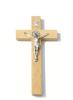 Kríž: drevený s Benediktínskou medailou (KVZ002) - 20 cm - prírodný